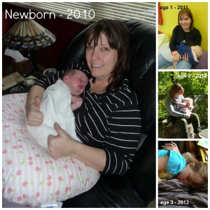 Nursing Zoebelle through the years
