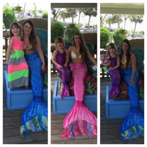 Zoe and three Weeki Wachi mermaids!